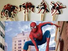 12 Spiderman Cupcake Toppers Cake Jelly Pick Party Birthday Baby Decoration FUN