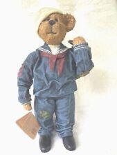 "Boyds Bears Crumpleton ""Navy Seaman Mcbear"" 12"" Navy Bear- #73123 -New"