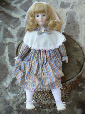 NUOVO Anna's Dolls 1984 by Anando Porcelain Doll Bambola porcellana
