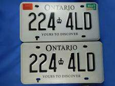 ONTARIO LICENSE PLATE 2004 MARCH SET PAIR PRIMARY PERSONAL TRANSPORTATION LOT