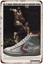 Dr. J's Converse Sneakers RARE sneaker head AD Reproduction metal sign 8 x 12