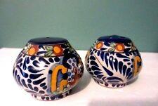Fabulous Set of TALAVERA Pottery Salt & Pepper Shakers - Signed TALAVERA JUAREZ