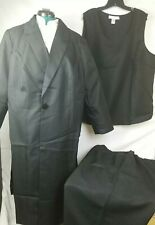 Allison Woods | Women's 3 pc Suit w/ Topper Jacket | Black (Size Plus: 28W) New!