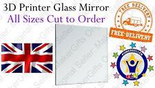 255mm 3D Printer Glass Mirror Print Bed Plate Surface Geeetech A20 RepRap UK