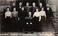 Ohio Postcard Real Photo RPPC 1909 DUNKIRK School Class Juniors Weir