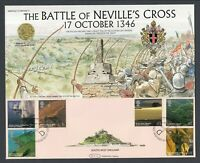 South West England Stamp Set on  Battle of Neville's Cross First Day Cover 2005
