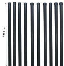 10 Zaunpfosten 1725 mm Zaunpfahl Pfosten 34mm Metallzaun Schweißgitter anthrazit