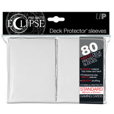 80 Ultra Pro Matte ECLIPSE Deck Protector MTG Pokemon Card Sleeves 85110 White