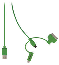 USB Charger Sync Cable Certified by Apple In Green FREE DELIVERY