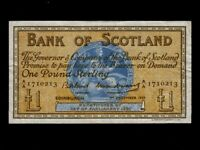 Scotland:P-100c,1 Pound,1959 * Medallion * Bank Of Scotland * VF *