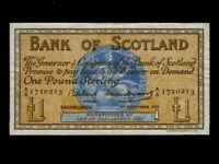 Scotland:P-100c,1 Pound,1959 * Medallion * Bank Of Scotland * VF *