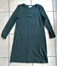 H&M Basic robe manches longues vert bouteille XS