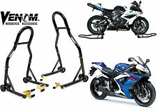 Venom Sport Motorcycle Front & Rear Spool Lift Stands Fork New Free Shipping USA
