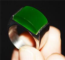 GENUINE CHINESE GREEN HETIAN JADE RING JADEITE NATURAL NEPHRITE EMERALD HOTAN