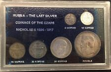 "1894 - 1917 Russia ""The Last Silver Coinage"" CZARS NICHOLAS 2 KOPEK ROUBLE MONEY"
