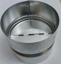 Back draught shutter Galvanised sheet steel 100 mm