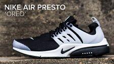 Men's Nike Air Presto Black White Grey Oreo Size UK 9 EUR 44 BNIB *848132 010*