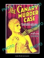 OLD LARGE HISTORIC PHOTO MOVIE STAR LOUISE BROOKS POSTER, THE CANARY MURDER CASE