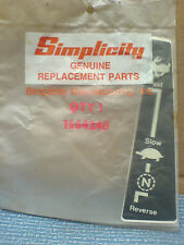 SIMPLICITY TRACTOR 7000 SERIES DRIVE LEVER DECAL 1664240 *NEW PART* B-20-1