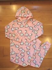 Gorgeous Girls 13-14yrs M&S HELLO KITTY HOODED FLEECE ALL IN ONE in Pink