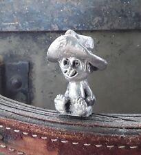 Pewter Figurine vintage silver sculpture cartoon humor dude kid hat