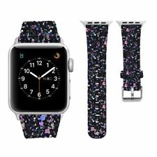 Para Apple Watch Band iWatch Brillo De Cuero Correa De Muñeca Bling serie 6 5 4 3 2 1