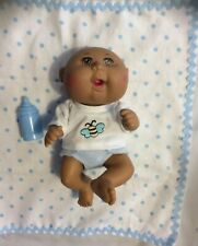 10 Inch Oaa Baby Boy Big Brown Eyes, Blanket, Bottle & Precious Outfit
