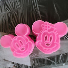 2pcs Mickey Shape Cake Molud Cookie Decor Sugarcraft Mold Plunger Cutter