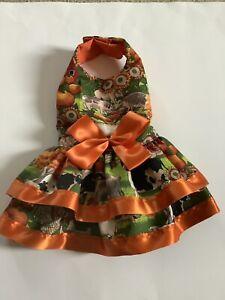 Handmade Harvest Doggie Dress Size M.