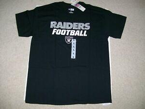 NEW Mens SZ Large Oakland Las Vegas Raiders NFL Sideline Black On Field T Shirt