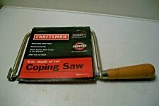Vintage Unused with Packaging Craftsman Coping Saw 36251 Made In USA
