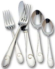 Waterford BALLET RIBBON 5 Piece Place Setting Stainless Flatware Shiny New