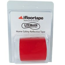 2 Inch Red Home Safety Reflective Tape for Fence and Mailbox - 36 Inch Roll