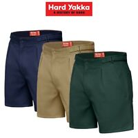 Mens Hard Yakka Drill Short Side Tab Shorts Cotton Work Tough Trade Comfy Y05340