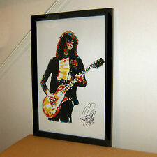 Jimmy Page, Led Zeppelin, The Yardbirds, Guitar, Guitarist, 11x17 PRINT w/COA B