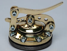 NEW BRASS HINGED SPEEDER STYLE GAS CAP  WITH  WELD IN BUNG HOTROD / MOTORCYCLE