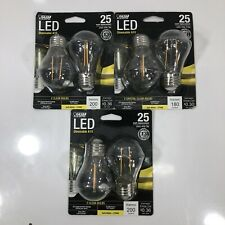 Lot Of 3 FEIT Electric 3w A15 LED Bulb 200 Soft White A-Line 25 Watt Equivalence