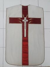 Antique French Christian Cross Vestment Chasuble Silk Panel