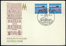 1968 Germany Ddr Event Cover - Leipziger Fall Fair Pair - Cacheted Post Card!