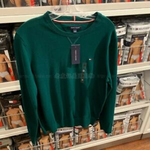NEW with tag Tommy Hilfiger Mens crew neck Sweater dark green Size S
