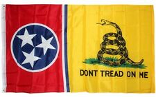 Tennessee DON'T TREAD ON ME State Flag 3x5 ft Gadsden Tea Party Rattlesnake TN
