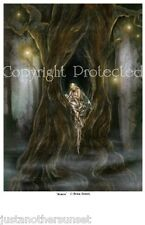 "Selina Fenech Print Solace Fairy Woods Tree House Faery 8.5x11"" Fantasy Art"