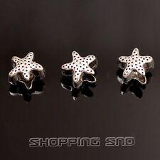 50pcs Tibetan Silver Tone Spacer Beads Fit Charms Bracelet Sea Star SeaStar DIY