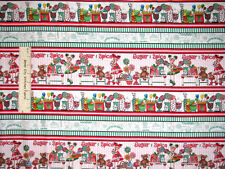 Gumdrops Lollipops Candy Fabric 100% Cotton By The Yard QT Candy Stripe 22898-RG