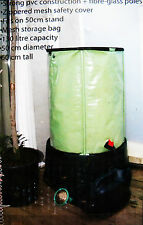"POP UP WATER BARREL, 34 Gallons, ""SAVE WATER - SAVE SPACE"", Strong Construction"