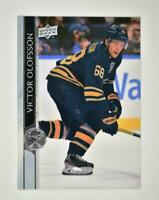 2020-21 UD Series 2 Base Clear Cut #273 Victor Olofsson - Buffalo Sabres