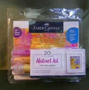Faber-Castell 20 Minute Studio Abstract Art for Beginners Makes 4 Designs CHEAP