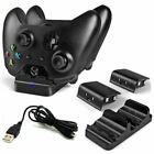 XBOX ONE Dual Charging Dock Station Controller Charger + 2 Extra Battery Packs