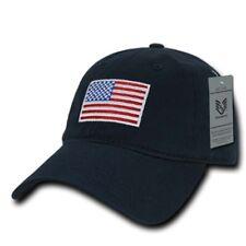 RWB NAVY US American Flag United States America Polo Tonal Baseball Hat Cap