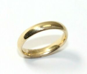 """Vintage 14K YELLOW GOLD Mens """"Comfort Fit"""" Wedding Ring/Band: Size 9, 5.3 Grams"""